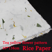 Buy rice paper flower and get free shipping on aliexpress 69138cm chinese rice paper calligraphy painting drawing paper natural flower and plant fiber paper mightylinksfo