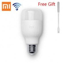 Original Xiaomi Mi Yeelight LED inteligente App Wifi Control remoto brillo ajustable salud visual bombilla Color blanco para el Smartphone