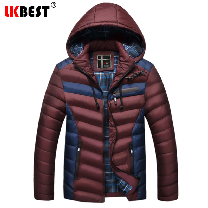 LKBEST 2018 New men Winter Jackets And Coats Thick Warm Fashion Casual Handsome brand Young Men Parka Fit Snow Cold (PW636) men warm coats winter snow thick hooded slim fit down parka brand design casual cotton fashion padded outwear sl e437
