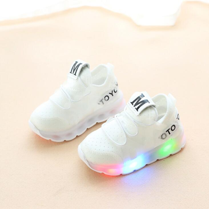 New Spring Autumn Kids Led Shoes Fashion Glowing Sneakers For Girls Boys Mesh Children Shoes Led Luminous Shoes Sneakers