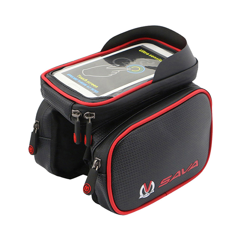 Sava Front Bicycle Bag Waterproof Cycling Bike Frame Double Pouch Bags For 6 2inch Cell Phone Smartphone Case In Panniers
