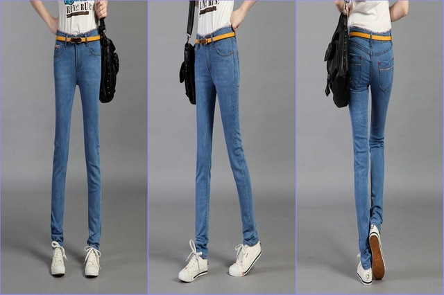 Hot Sexy Tight Jeans Look Tight Telescopic Leggings Trousers Slim Jeans Leopard Korean Womens Jeans