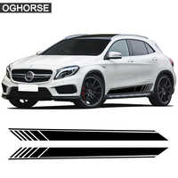 Car Styling Racing Side Stipe Skirt Stickers Body Vinyl Decal For Mercedes Benz GLA Class X156 GLA45 AMG GLA180 GLA200 GLA250
