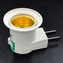 E27 кнопка включения/выключения E27 лампа легкая розетка разъем для конвертера, адаптера держатель лампы настенная лампа держатель конвертер дропшиппинг