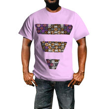 Hitarget New man Style African Print T Shirt Short Sleeve Casual Tops Men Dashiki Plus Size Clothing  WYN382