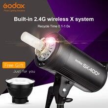 Godox sk400ii 400ws gn65 profissional, estúdio, flash, estroboscópico, embutido, sem fio, 2.4g, sistema x, tiro criativo, atualização sk400