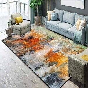 Image 3 - נורדי תוספות מופשט שרבוט צבעי מים מחצלת בית חדר שינה ליד המיטה כניסה מעלית רצפת מחצלת ספת שולחן קפה אנטי להחליק שטיח