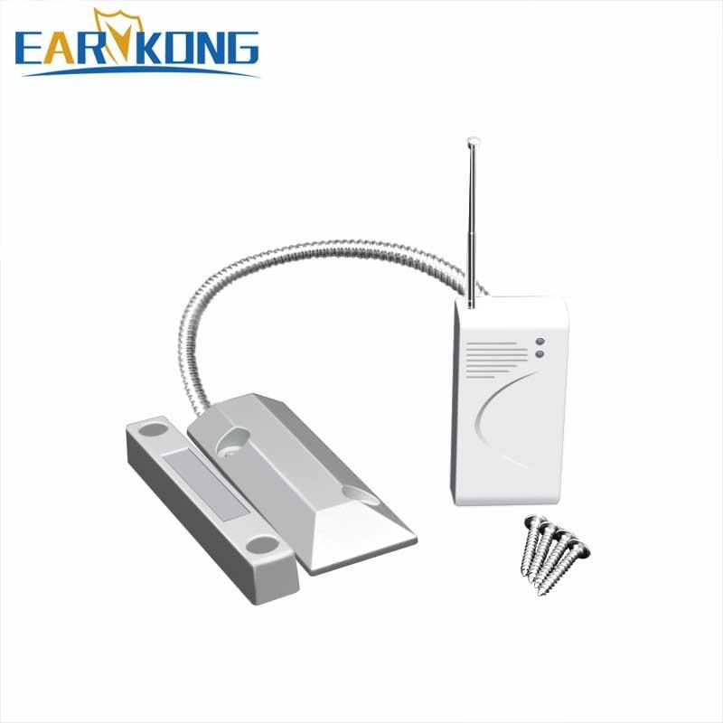 New Earykong 433MHz Wireless Metal Door Sensor, Door Magnet Alarm, Outdoor Waterproof, For Home Burglar Alarm System