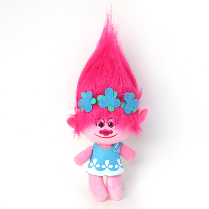 Big Size 40cm Movie Trolls Poppy Plush Doll Toy Dream Works The Good Luck Trolls Plush Soft Stuffed Toys Gifts for Kids Children girls dresses trolls poppy cosplay costume dress for girl poppy dress streetwear halloween clothes kids fancy dresses trolls wig