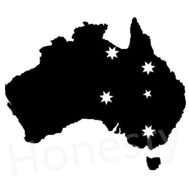 Australia With Southern Cross Car Wall Home Glass Window Door Car - Window decals for home australia