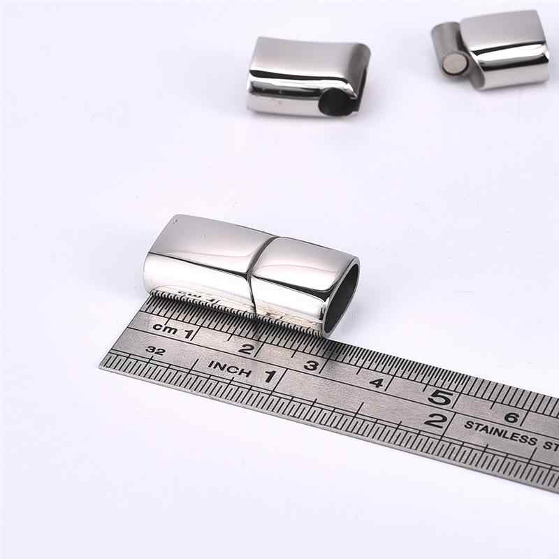 Jiayiqi 2pcs/Set Magnetic Clasps Stainless Steel Connectors For DIY  Bracelet Jewelry Making Components Findings