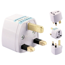 цена на 3PCS Universal Adapter EU USA AU to UK GB England AC Power Plug Adapter Travel  Charger Converter 10A 250V