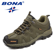 BONA New Arrival Classics Style Men Hiking Shoes Lace Up Men Sport Shoes Outdoor Jogging Trekking Sneakers Fast Free Shipping(China)