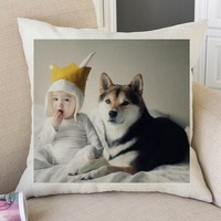 2017 Personalized Pet Dog Photos Customized Pillow Case Home Decoration Special Family Gift Children Kid Bedroom