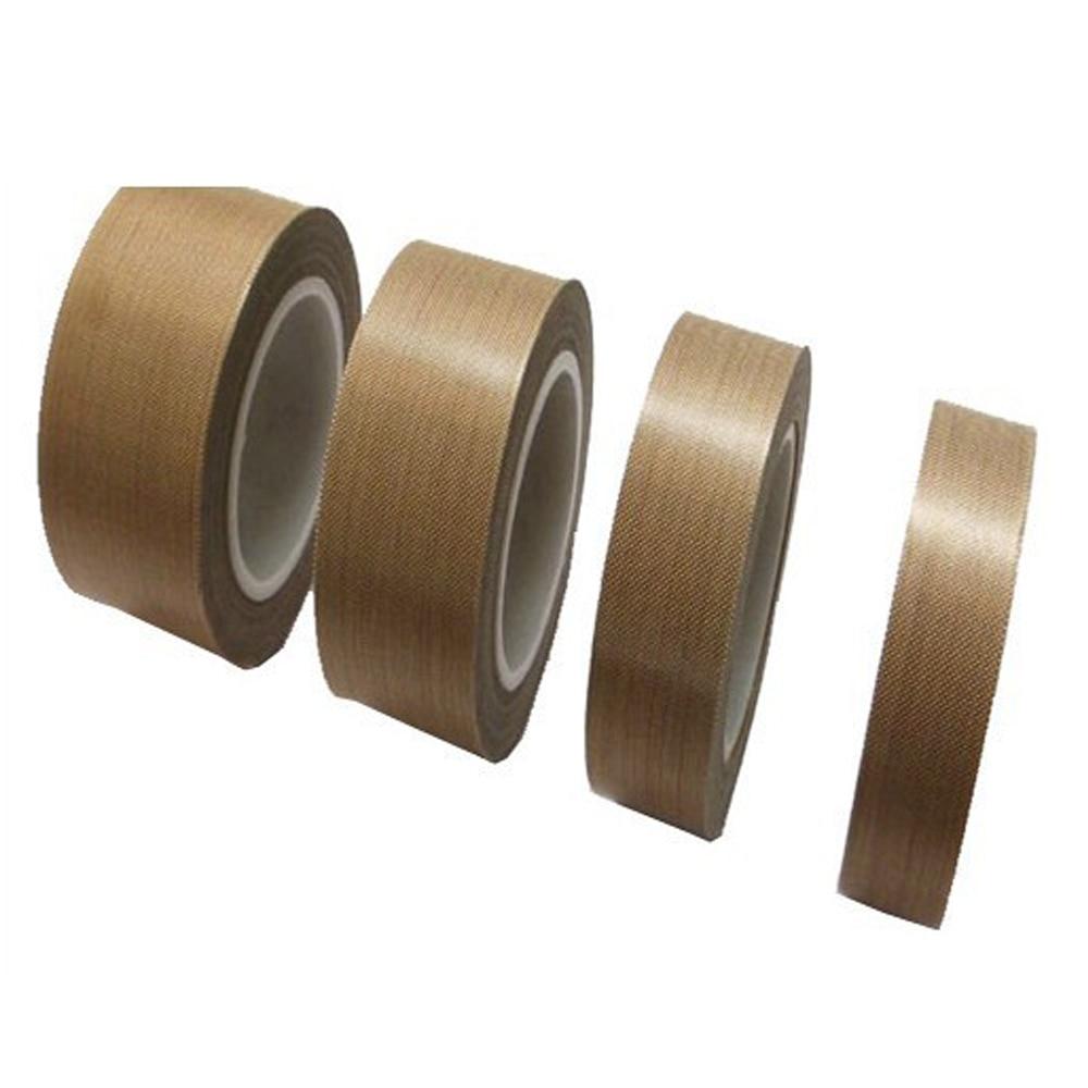 1 Roll 10-25mm*10m*0.13mm PTFE Teflon Adhesive Tape Cloth Hi-Temp Insulate