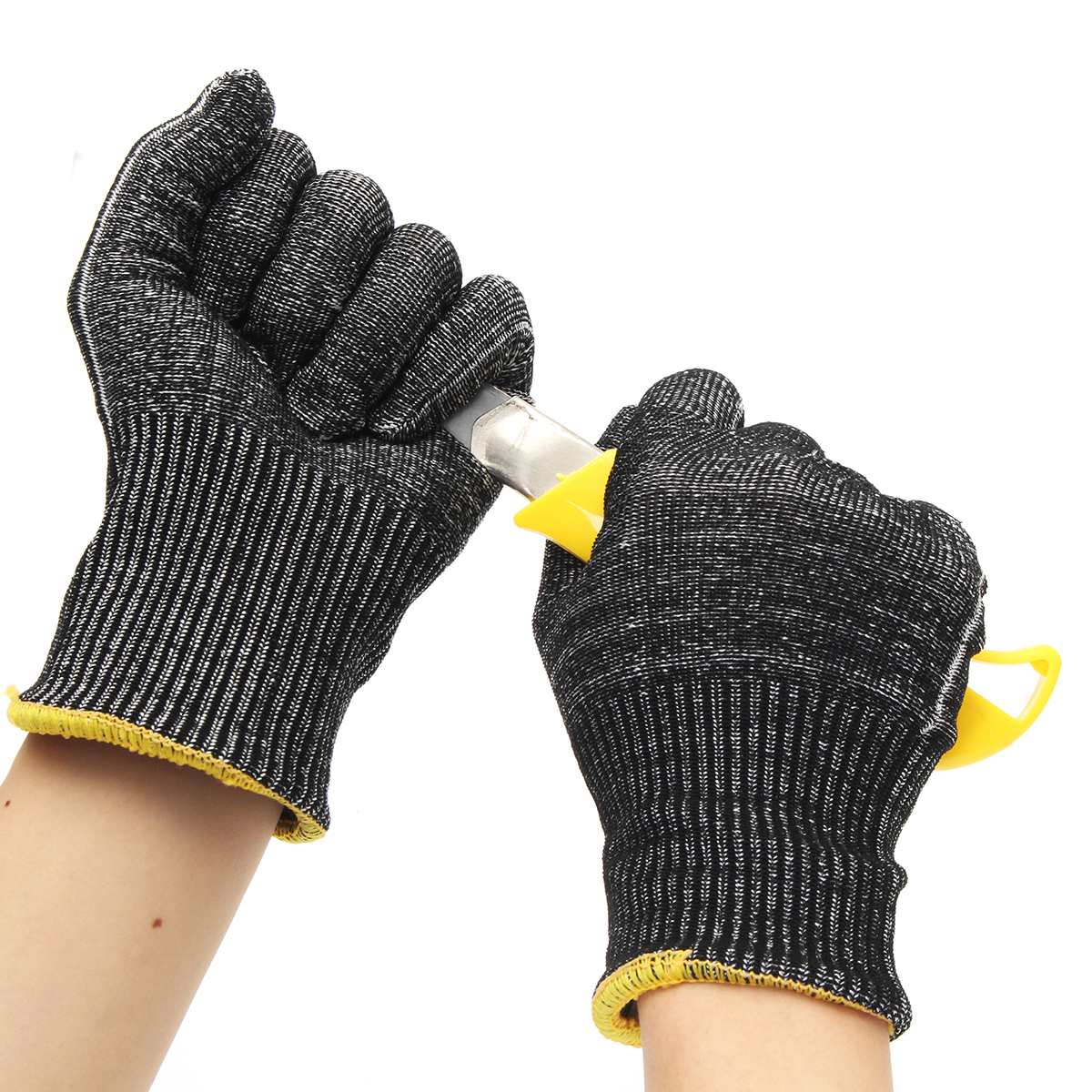 240mm Large Safety Cut Stab Proof Resistant Protective Mesh Butcher Gloves