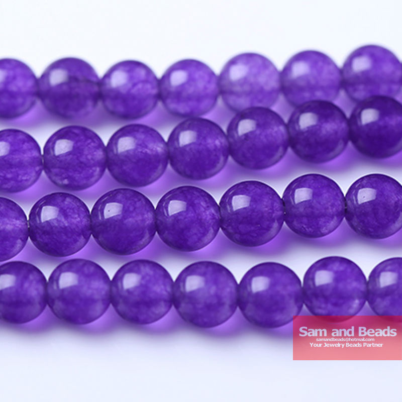 Free Shipping Round Dark Purple Chalcedony Beads For Jewelry Making Diy Bracelet Necklace 4 6 8 10 12mm Strand 16 Dpjb01 Regular Tea Drinking Improves Your Health Beads & Jewelry Making Jewelry & Accessories