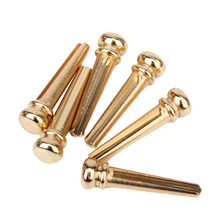 цена на 6pcs Brass Bridge Pins with Golden Coating For Acoustic Guitar Golden Accessories