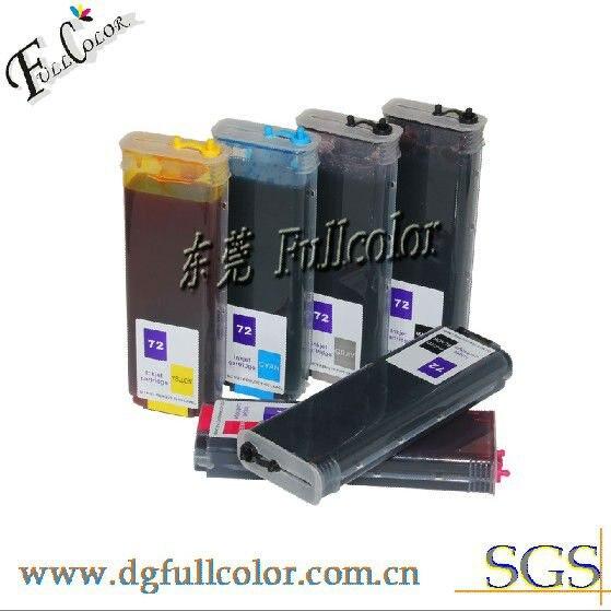 Многоразового Desginjet T1300 T2300 принтер, совместимый 72 картридж с постоянным чип & Чернила бесплатная доставка