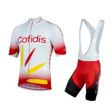 цена на 2019 Pro team cofidis cycling jersey set mens bicycle maillot MTB Racing ropa Ciclismo summer quick dry bike cloth GEL pad