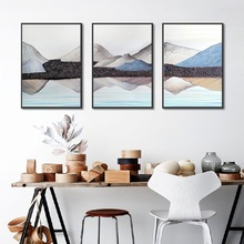 Abstract Mountain Lake Landscape Picture Nordic Home Art Canvas Painting Scenery Living Room Bedroom Wall Posters and Prints