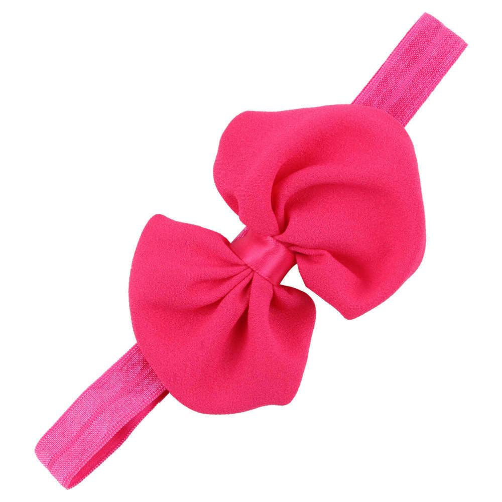 เด็กทารกแถบคาดศีรษะทารกอุปกรณ์เสริมผม bowknot band โบว์ดอกไม้ทารกแรกเกิด Headwear tiara headwrap ของขวัญเด็กวัยหัดเดินผ้าพันคอริบบิ้น
