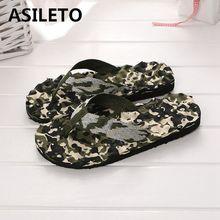 ASILETO для мужчин wo сланцы тапочки с принтом сандалии на плоской подошве Крытый Открытый повседневное Мужская обувь Пляжные шлепанцы sapatos masculino