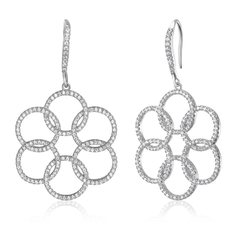 New styles S925 silver drop Earrings for women setting