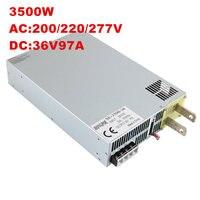 3500 Вт 36 В 97A DC 0 36 В источника питания 36 В 97A AC DC высоком Мощность PSU 0 5 В аналогового сигнала управления SE 3500 36