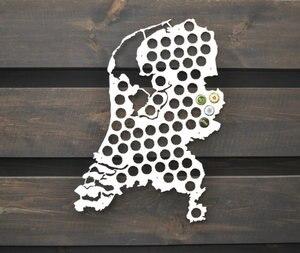Mapa de tapas de cerveza, regalo holandés para él, mapa de tapas de botellas, regalo de novio, regalo de padre, regalo de compañero de trabajo, regalo para hombres, decoración de pared, Gi VALENTINE'S