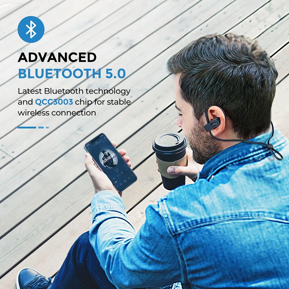 Image 2 - Mpow Flame 2 Bluetooth 5.0 Earphone IPX7 Waterproof Wireless Headphone With 13 Hours Playtime Noise Canceling Mic Sport EarphoneBluetooth Earphones & Headphones   -