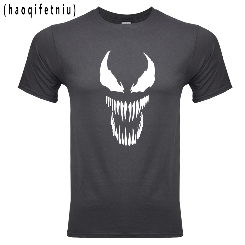 2018 Venom T Hemd Harajuku Mode 100% Baumwolle Kurzarm T Shirts Casual Tee Shirts Männlichen T Hemd Anime Marvel Elegant Im Geruch