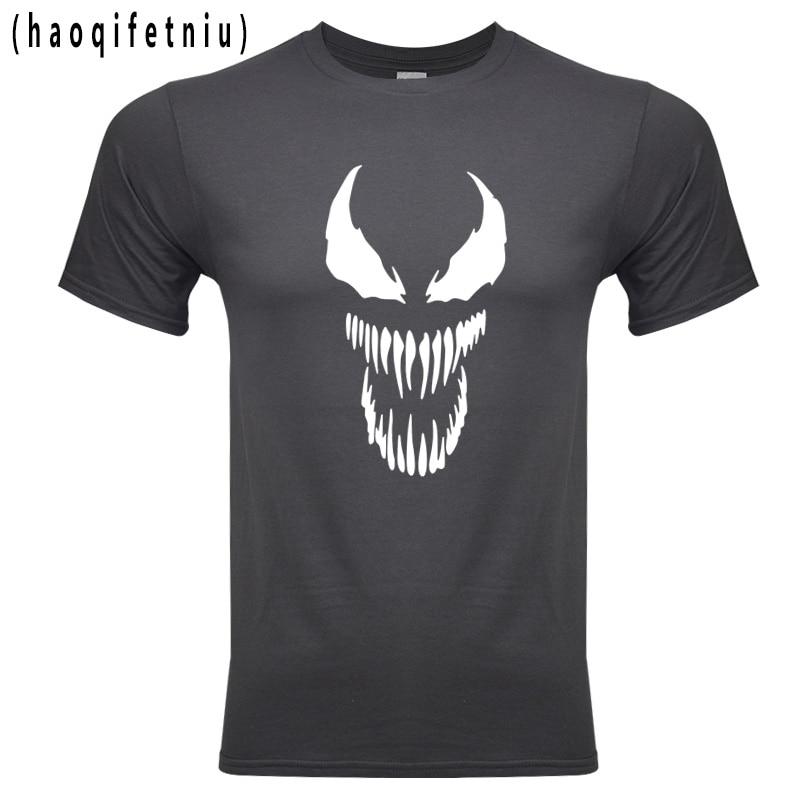 2018 Venom   T     shirt   Harajuku Fashion 100% cotton Short Sleeve   T     Shirts   casual Tee   Shirts   Male   T     shirt   Anime Marvel