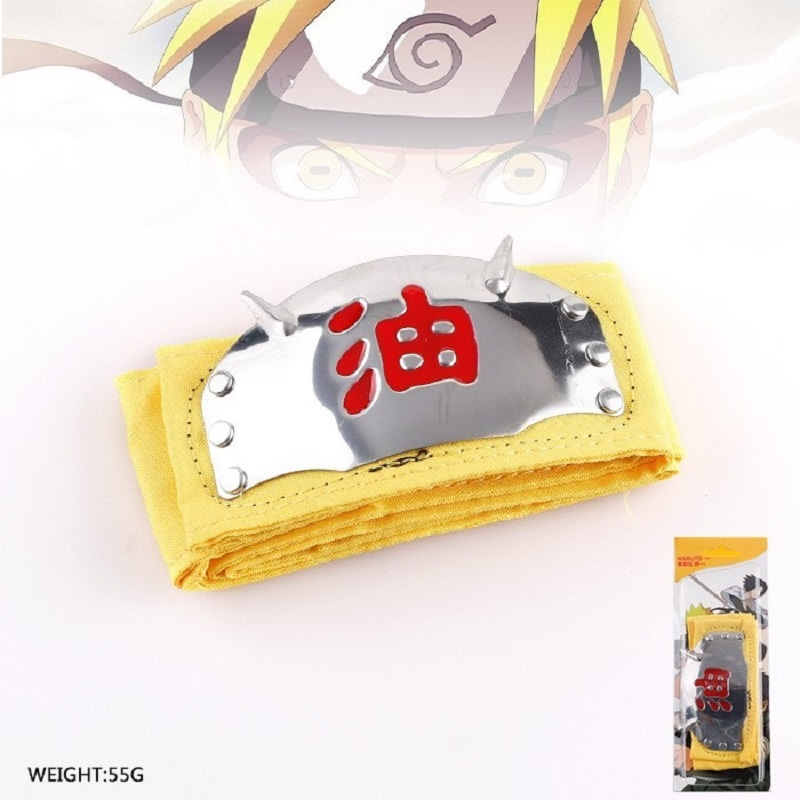 Naruto Headband Yellow and Red Text