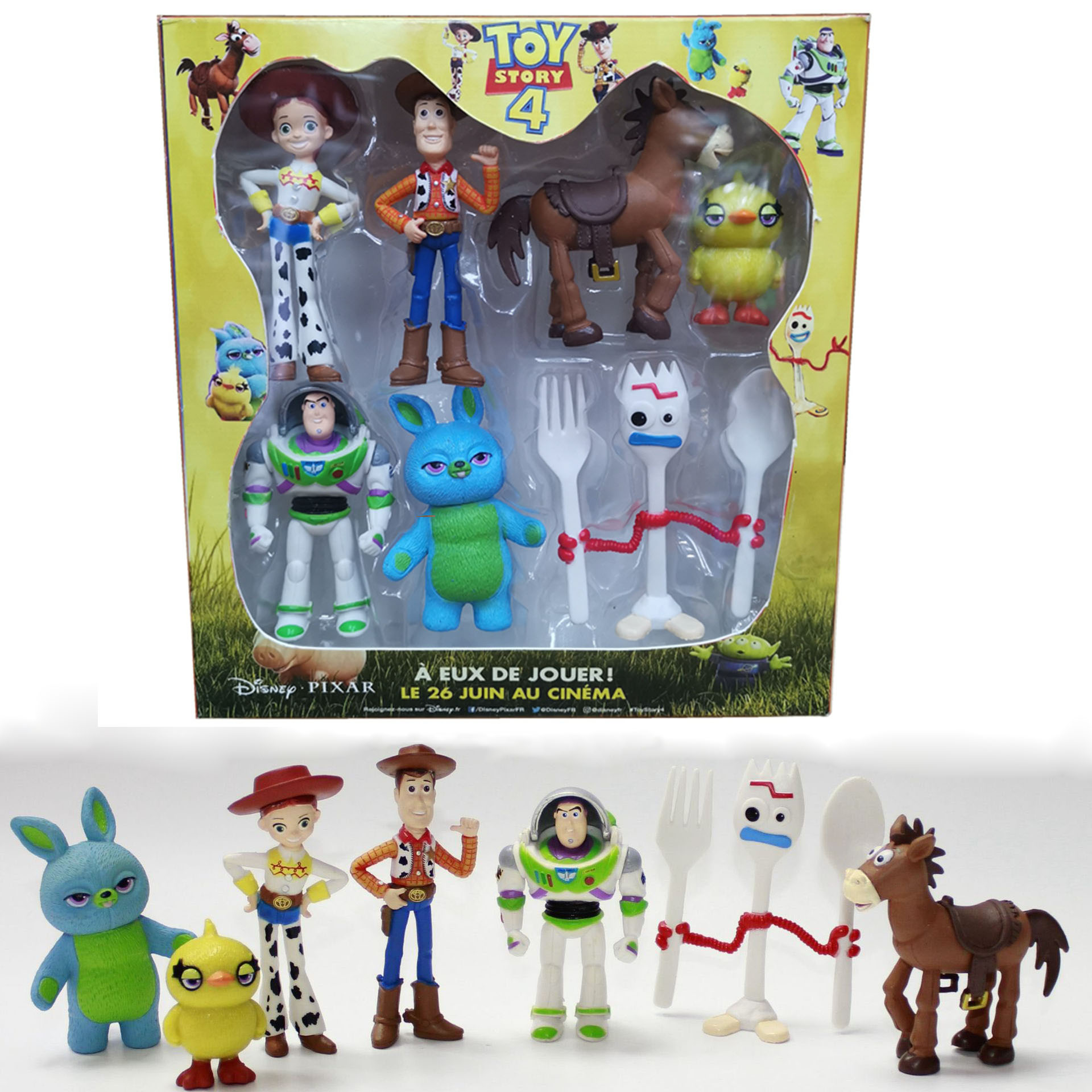 Topper-Toys Toy-Story Birthday-Gift Jessie Lightyear Woody Buzz Bunny Anime 4-Forky Cake