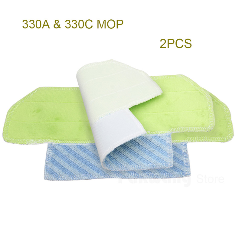 Original Robot Vacuum Cleaner Hot Sale 2 Pcs Mop Cloths For 330A&330C Vacuum Cleaner Parts electric handheld house mop robot vacuum cleaner for home push wireless manual vacuum cleaners robot sweeper