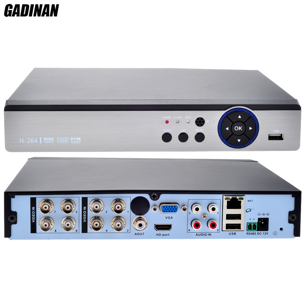 GADINAN 8CH 4MP AHD DVR/гибридный 4 * AHD м + 4 * IP 4 м/Сеть: 8*1080 P + 8*960 P; 4 * м 5 м CCTV видео рекордер AHD/TVI/CVI/CVBS/IP 5 в 1 DVR