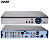 GADINAN 8CH 4MP AHD DVR Hybrid 4 AHD 4M 4 IP 4M Network 8 1080P 8