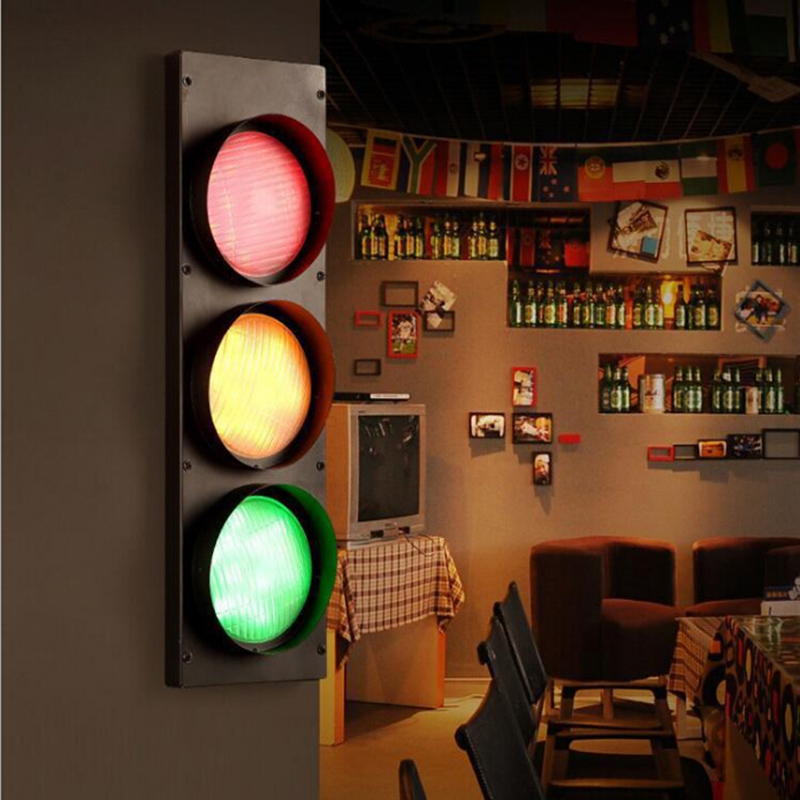 Modern Creative Traffic Lights LED Decoration Sconce Fixtures Wall Lights for Coffee Bar Dining Room Beside Lighting wall Lamp