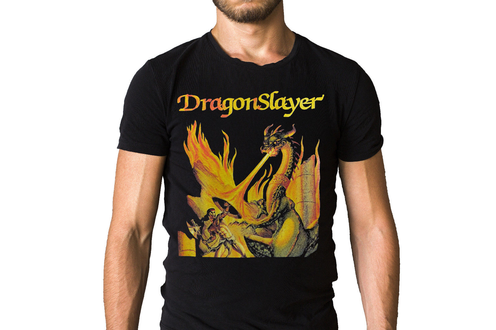 Dragonslayer Dragon Slayer Album Cover T-Shirt New Tops 2018 Print Letters Men T Shirt Fashion Classic Top Tee Plus Size image