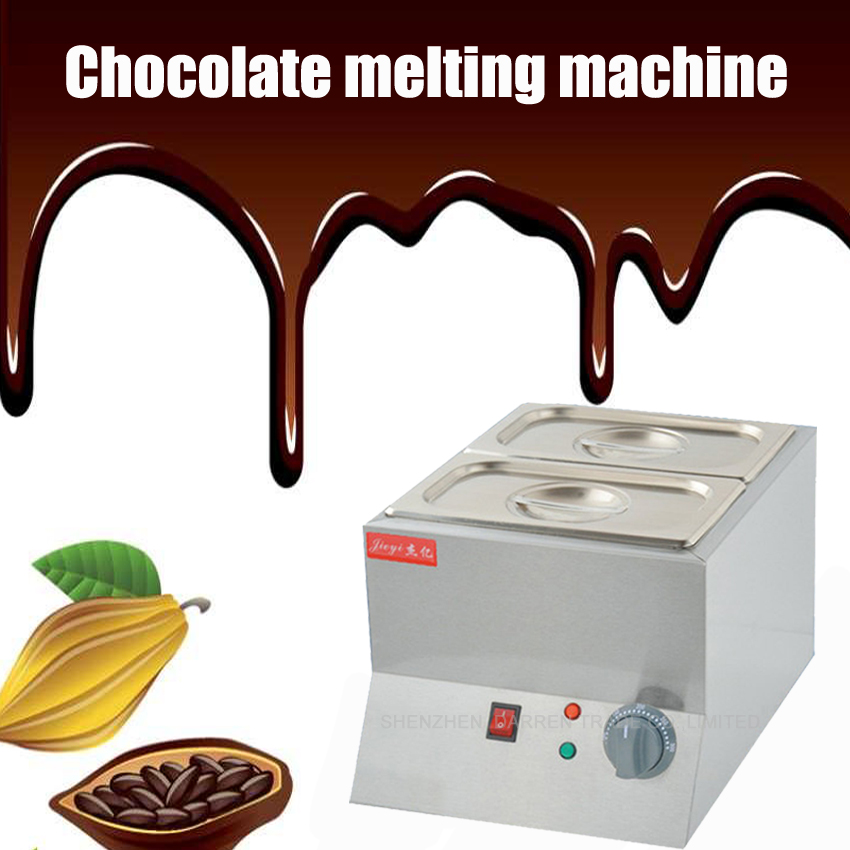 1PC Double Electric Chocolate Fountain Fondue Chocolate Melt Pot melter Machine chocolate melting machine 110V or 220V 1pcs 1000w 8kg capacity electric chocolate melter chocolate tempering machine