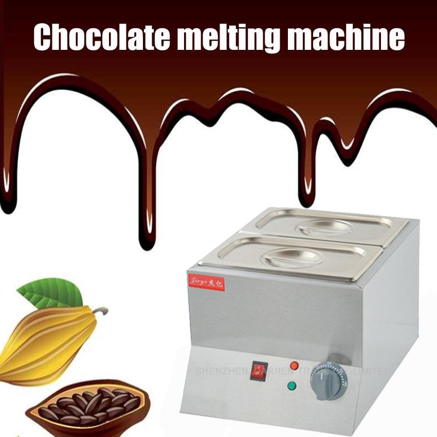 1PC Double Electric Chocolate Fountain Fondue Chocolate Melt Pot melter Machine chocolate melting machine 220V 250w