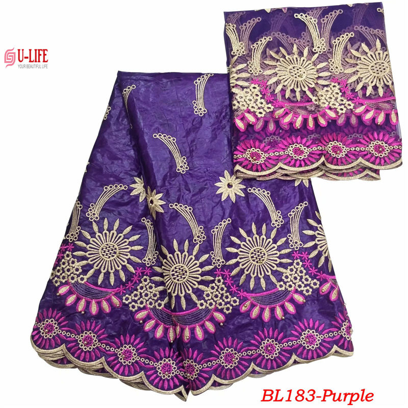 ulifelace African Bazin Riche Getzner Lace Fabric New Design Tulle Mesh Embroidered High Quality French Lace With Bazin BL-183ulifelace African Bazin Riche Getzner Lace Fabric New Design Tulle Mesh Embroidered High Quality French Lace With Bazin BL-183