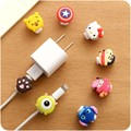 2pcs/lot Cute Cartoon Charger Case Cable Protector USB Cable Winder Cover Shell For iPhone 5s 6 6s 7 plus cable Protect stitch