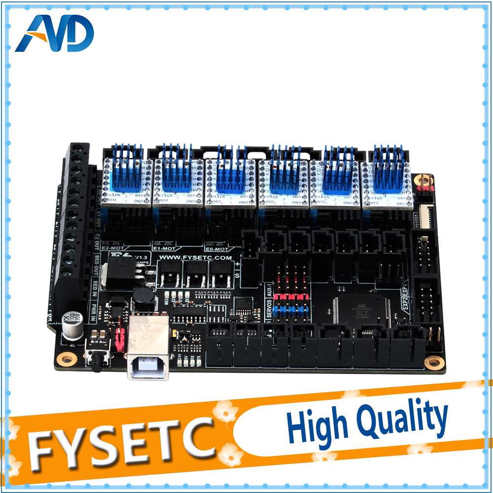 FYSETC F6 V1.3 Board ALL-in-one Electronics Solution With 6pcs Special TMC2130
