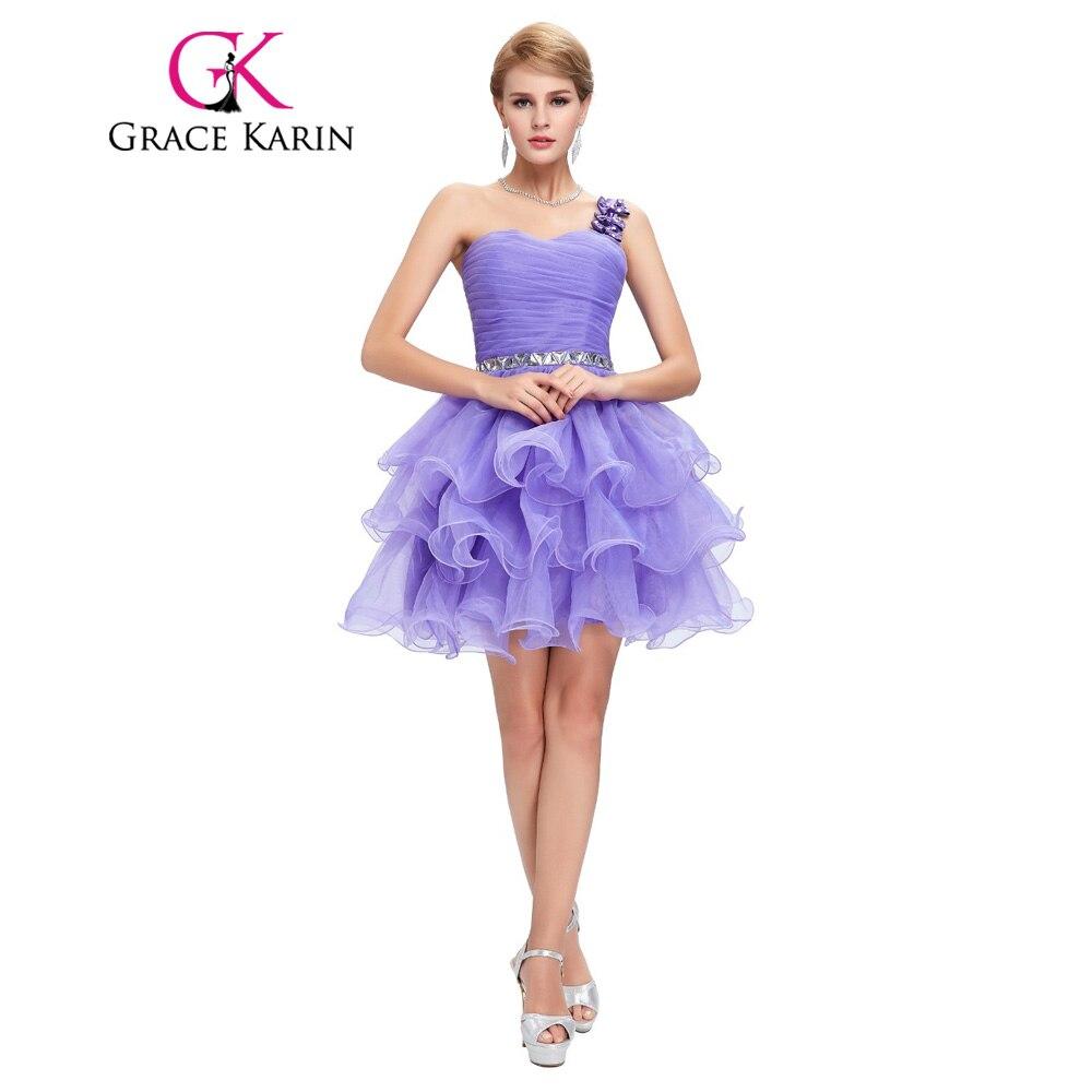 Gracia Karin Corto Gris Blanco de Baile Vestido de Bola del Vestido ...