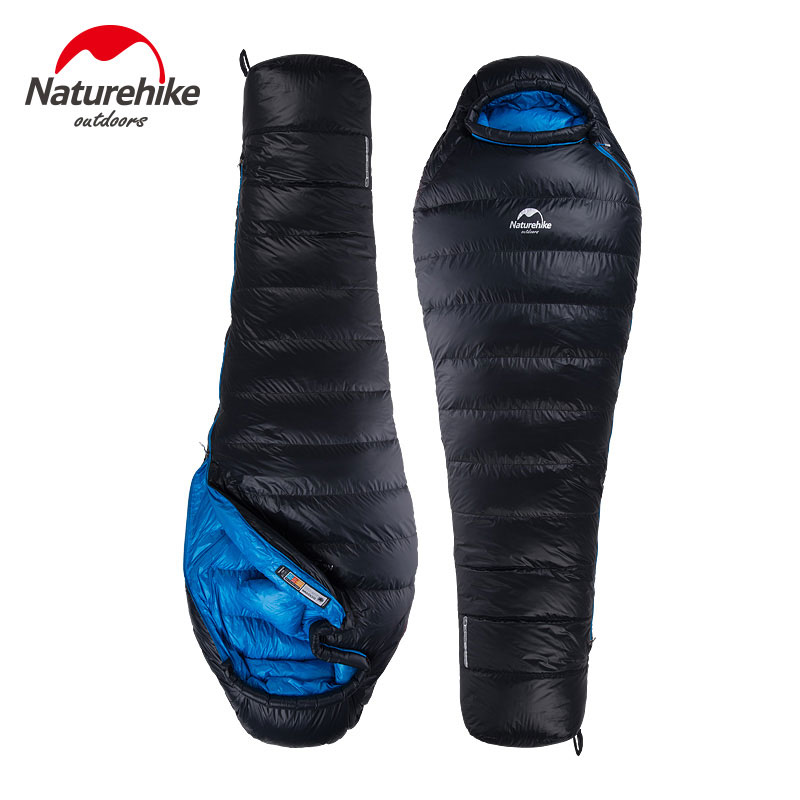Naturehike ultralight 650FP duck down sleeping bag outdoor winter warm mummy sleeping bags adult camping hiking sleeping bag naturehike mummy sleeping bag ultralight camping outdoor 3 season cotton winter adult sleeping bags for tourists 1750g 210 80cm