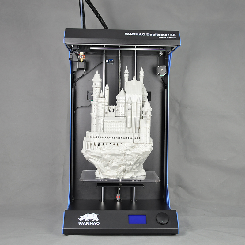 Duplicator 5s Extreme XV Rock Steel structure 3D Printer for Sale Wanhao D5S 3D Printer with Big Build Size:295*195*590mm