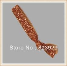 "Elastic Gold Glitter Cabelo Ribbon Ties 5/8 ""Trecho Metallic Velvet Ribbon Laço de Cabelo Laço de Cabelo Das Mulheres"