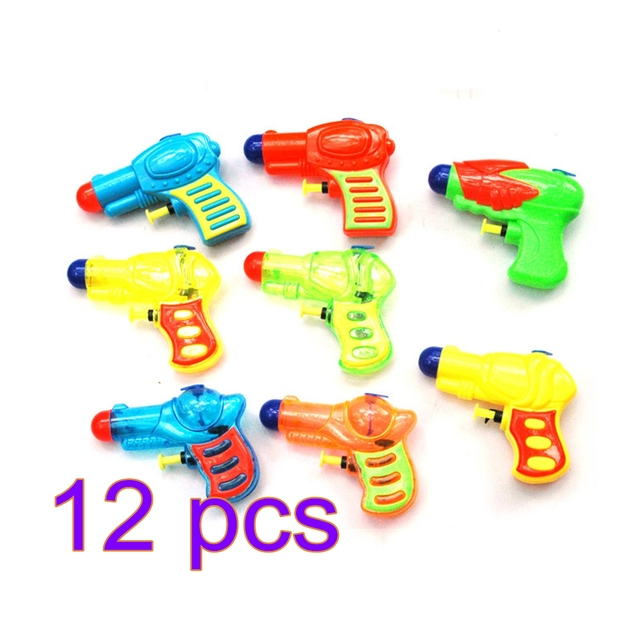 12 PCS Mini Size Nozzle Squirt Water Shooters Water Gun Toy for Kids - Color Random